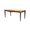 Rect. Wooden Inlaid Top Dining Table With Brass Trim (92cm X 184cm X H75cm) (, Vintage)