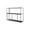 Black Iron Low Two Tier Shelving Unit