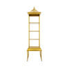 Tall Aged Gold Padoga Shelf (45cm X 45cm X 172cm H)
