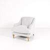 Pale Grey 3  Dimpled Back Pale Wood Turned Feet Arm Chair