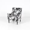 Faux Cow Hide Armchair On Black Legs