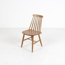 50'S Ercol Beech Stained Stickback Dining Chair