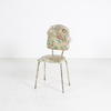 Tatty Cream Floral Vinyl & White Tubular Chair