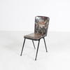 50's Black Frame Vegetable Patt Dining Chair