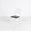 White Ladder Back/Black Vinyl Seat Occ Dining Chair