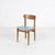 Teak And Light Blue Vinyl Seat Occasional  Dining Chair  (50s)
