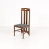 Medium Oak/Brown Seat Macintosh Low Back Dining Chair