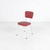 Red Vinyl & White Tubular  Dining Chair