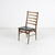 Rosewood & Black Vinyl Ladderback Occasional  Dining  Chair