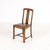Oak Slat Back Brown Vinyl Seat Occasional Dining Chair