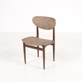 Gloss Dark Wood Frame/Brown Mottle Seat Kitchen Chair 60S