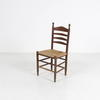 Rush Seat Walnut Ladder Back Kitchen Chair