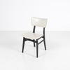 50's Off White Vinyl/Black Frame Occasional Dining Chair