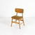 Teak  Slat Back Gold Draylon Seat Occasional Kitchen Chair  (50s)