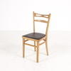 Beech 2 Ladder Back Black Vinyl Seat Kitchen Chair