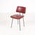 Red Rexine, Black Metal Leg Kitchen Chairs