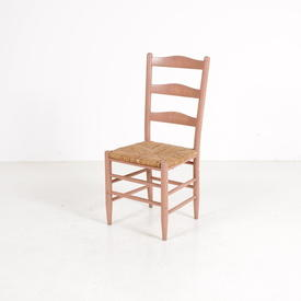 Yesterday Pine Rothwell Pink Rush Seat Chair