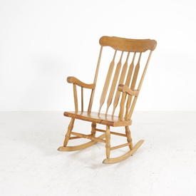 Goldpine Pine Or Painted Stick Back Rocking Chair