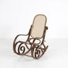 Rattan Dk Wood  Bentwood Rocking Chair