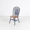 Arlington Arrow  Blue Dome Back  Wood Seat Dining Chair