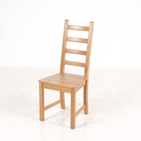 Chunky Pine 4  Bar Ladder Back Dining Chair
