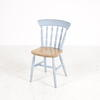 Pine & Pale Blue Kitchen Dining Chair
