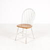 Windsor White & Beech Dome Wan Stick Back Chair