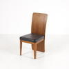 French Cherrywood/Black Leather Seat Estrade Occ Dining Chair