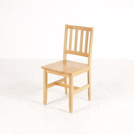 Rubberwood Slat Back Occ Kitchen Chair