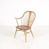 Ercol Beech Windsor Style Raised Arm Carver Kitchen Chair
