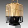 Tall Natural & Black Square Bamboo Lantern