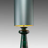 Green & Silver Mottled Ceramic 'nash' Table Lamp With Large Mint Green Cylinder Shade