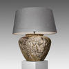Extra Large Squat Bulbous Textured Pottery Lamp