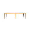 Rect White Marble Topped Coffee Table On Gold Frame (143cm X 51cm X 40cm H)