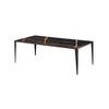 Rect Black Marble Topped Coffee Table On Black Frame ( H 40cm X W 120cm X D 60cm )