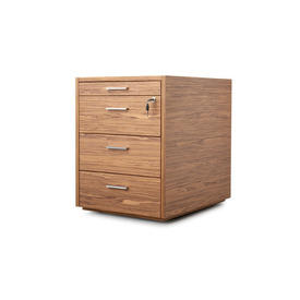 "Amercian Walnut ""X10"" 4 Drawer Pedestal"