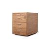 """Amercian Walnut """"X10"""" 4 Drawer Pedestal ( H: 58cm L: 59cm W: 46cm )"""