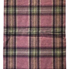 """Throw 7'6"""" x 2' Pink Moon Glen Derry Tartan Wool"""