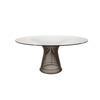 Warren Platner Circ. Glass Dining Table, Steel Rod Base (130cm X H70cm)
