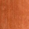Burnt Orange Silk Stripe Pattern Wool Rug ( L: 244cm W: 168cm )