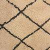 Cream & Black Diamond Pattern Wool Rug ( L: 240cm W: 150cm )