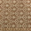 Brown Damask Fringed Indian Wool Rug ( L: 272cm W: 189cm )