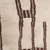 Cream & Brown Patt Wool Rug ( L: 285cm W: 160cm )