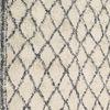 Cream & Blue Diamond Patt Cotton Knotted Rug ( L: 230cm W: 165cm )