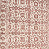 Red & White Pattern Cotton Knotted Rug ( L: 257cm W: 163cm )
