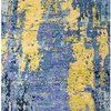 Blue & Yellow Pattern ''iconic'' Wool Rug ( L: 290cm W: 190cm )