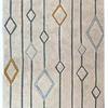 Cream, Grey & Gold Diamond Pattern ''solitare'' Rug ( L: 230cm W: 160cm )