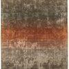 """Orange, Gold & Grey Striped """"Holborn"""" Rug ( L: 230cm W: 160cm )"""