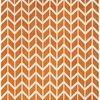 "Chevron Orange Pattern ""Arlo"" Rug ( L: 230cm W: 160cm )"