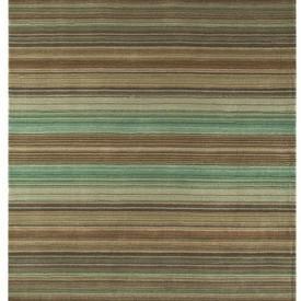 """Green & Brown Striped """"Pimlico"""" Rug"""